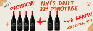 Zestaw Alvi's Drift 221 Pinotage 4+2 GRATIS